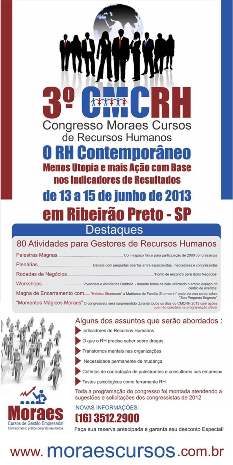 3º CMCRH - Congresso Moraes Cursos de Recursos Humanos